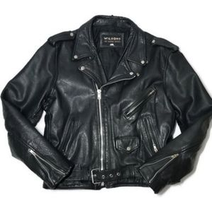 Vintage Motorcycle Black Leather Jacket